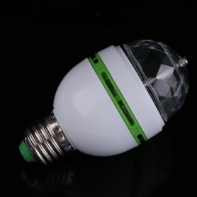 Unbranded - 3 Watt Multicolor Rotating Lamp E27 AL002 - E27 LED - AL002 www.NedRo.nl