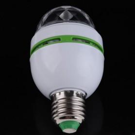 Unbranded, 3 Watt E27 Multicolor roterende feestlamp, LED gadgets, AL002, EtronixCenter.com