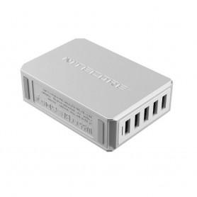 NITECORE, NITECORE UA55 5-Port USB HUB 5V 10A 50W, Ports and hubs, MF-UA55