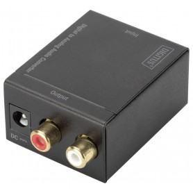 Oem - Digital to Analog Audio Converter box with with 5V EU power supply - Audio adapters - AL1127-AUDIO