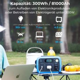 PowerOak, PowerOak PS2 / AC30 96000mAh / 300Wh LiFePo4 solar generator, Energy storage, PO-PS2
