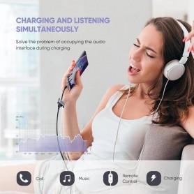UGREEN, UGREEN USB-C to 3.5mm Jack Headphone Adapter + USB-C Charging port, Audio adapters, UG-50596