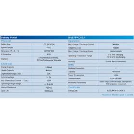 KSTAR, KSTAR H3 10.2Kw ESS BluE-S 3680D converter +.2x BluE-PACK5.1 storage battery, Energy storage, KSTAR-ESS-H3-10KW
