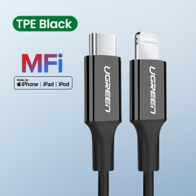 UGREEN - UGREEN MFi Lightning to USB C / USB-C / USB Type C Male - USB adapters - UG-60746-CB