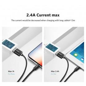 UGREEN - UGREEN Lightning MFi to USB A Male Charge and Data Cable - USB adapters - UG-60161-CB