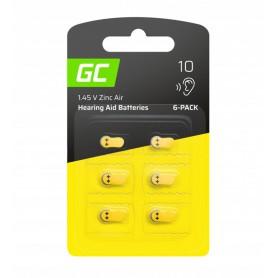 Varta - GREEN CELL 10 P10 PR70 ZL4 ZincAir Hearing aidbatteries - Hearing batteries - GC101-10-CB