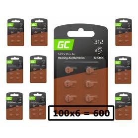 Varta, GREEN CELL 312 P312 PR41 ZL3 ZincAir Hearing aidbatteries, Hearing batteries, GC099-312-CB