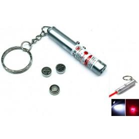 Sleutelhanger 2in1 laserpen + LED Light