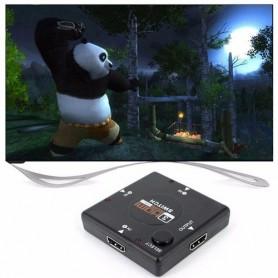 NedRo - 4-poorts 1.4 HDMI-scheidingsverdeler splitter 3x IN - 1x OUT - HDMI adapters - AL554 www.NedRo.nl