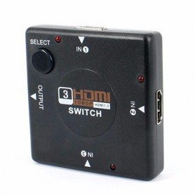 NedRo, 4-poorts 1.4 HDMI-scheidingsverdeler switch 3x IN - 1x OUT, HDMI adapters, AL554, EtronixCenter.com