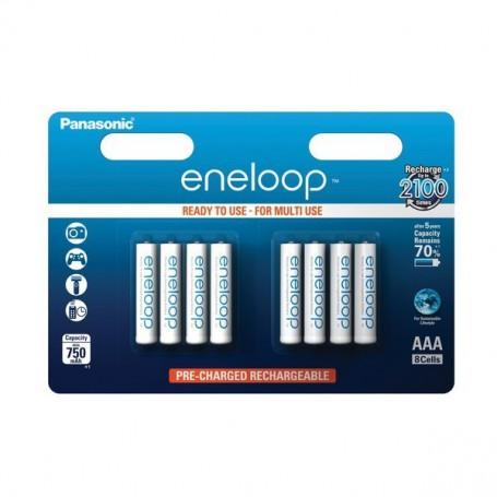 Eneloop - 8x Panasonic Eneloop AAA Rechargeable Battery R3 - Size AAA - ON2107 www.NedRo.us
