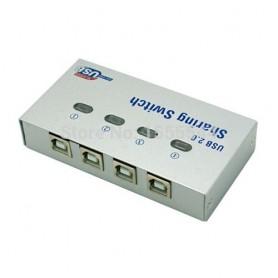 4 Port USB2.0 USB Hub Auto Sharing Switch Box AL140