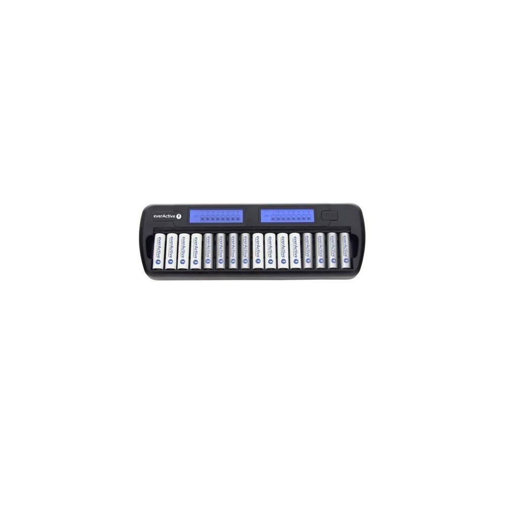 EverActive - EverActive Incarcator Profesional 16 baterii NC-1600 - Încărcătoare de baterii - BL055-C www.NedRo.ro