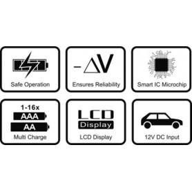 EverActive, EverActive Incarcator Profesional 16 baterii NC-1600, Încărcătoare de baterii, BL055, EtronixCenter.com