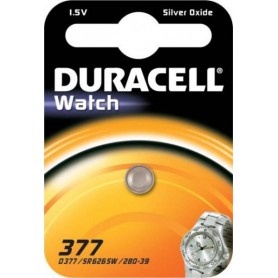 1x Duracell 377-376 / G4 / SR626SW watch battery BL075