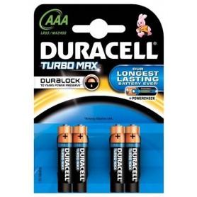 4x Duracell Duralock Turbo Max AAA LR03