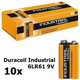 10x Duracell Industrial 6LR61 9V alkaline BL061