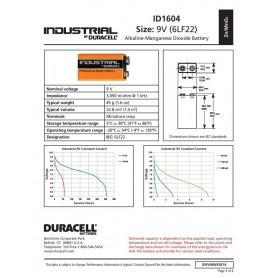 Duracell - Duracell Industrial 9V 6LR61 Alkaline - Size C D 4.5V XL - BL061-10x www.NedRo.us
