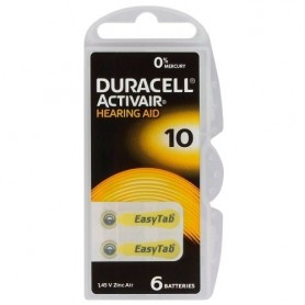 Duracell - Duracell ActivAir 10MF Hg 0% 1.45V 100mAh Baterii pentru aparate auditive - Baterii plate - BS263-CB www.NedRo.ro