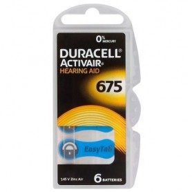 Duracell - Baterii auditive Duracell ActivAir 675MF Hg 0% 650mAh 1.45V - Baterii plate - BS258-CB www.NedRo.ro