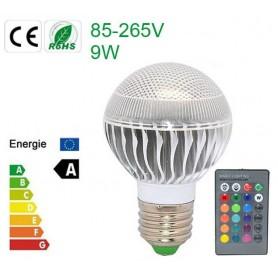 Oferta Bec LED 9W E27 RGB cu telecomanda CG007