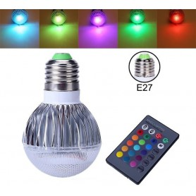 NedRo - Offer € 6.99 - 9W E27 RGB LED bulb with remote CG007 - E27 LED - CG007-CB