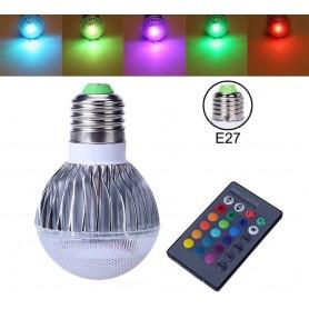 NedRo - Aanbieding 9W E27 RGB LED Bulb met afstandbediening CG007 - E27 LED - CG007 www.NedRo.nl