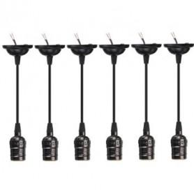 Oem - Edison Line Vintage E27 adjustable lampholder Black AL992 - Light Fittings - AL992
