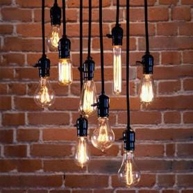 NedRo, Edison Line Vintage E27 verstelbare lamphouder Zwart AL992, Vintage Antiek, AL992, EtronixCenter.com