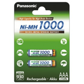 Panasonic, Panasonic 1000mAh AAA oplaadbare batterijen NiMH, AAA formaat, BL109-CB, EtronixCenter.com