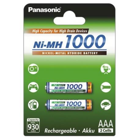 Panasonic, Panasonic 1000mAh AAA Rechargeable Battery NiMH, Size AAA, BL109-CB