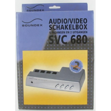 NedRo, AUDIO/VIDEO Schakelbox 4IN 2OUT SVC680 18680, Audio adapters, 18680, EtronixCenter.com