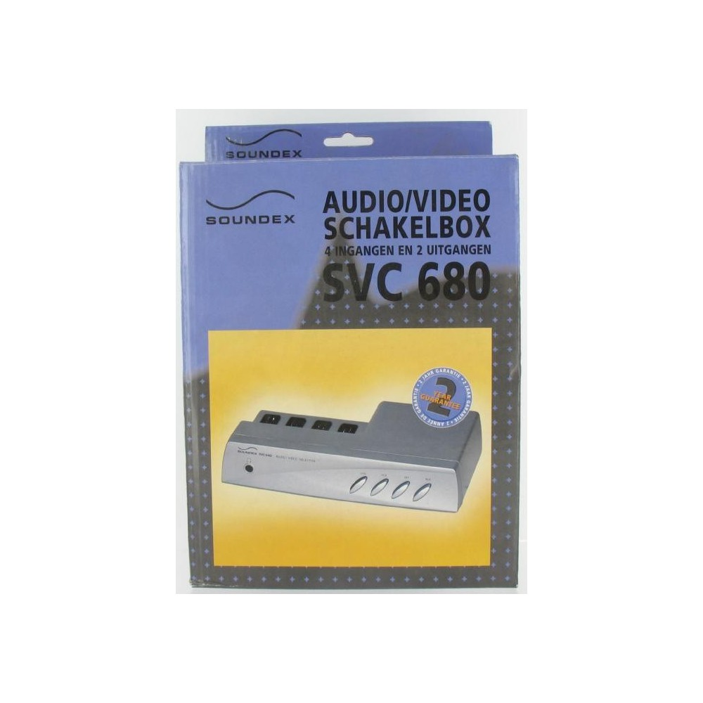 AUDIO/VIDEO Schakelbox 4IN 2OUT SVC680 18680