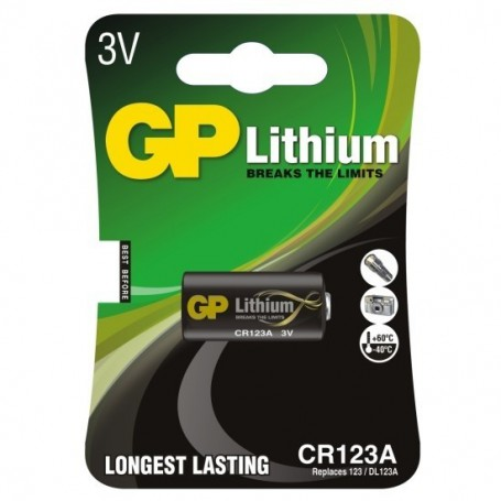 GP, GP CR123 CR123A DL123A CR17345 lithium battery, Other formats, BS102-CB