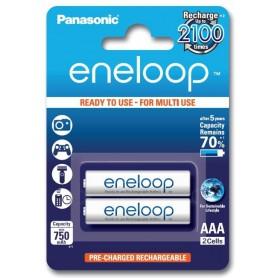 Panasonic - 2x AAA R3 Panasonic Eneloop Oplaadbare Batterijen - AAA formaat - BL121 www.NedRo.nl