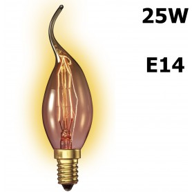 Calex, Edison Vintage 25W E14 Decoration Light Bulb 110 LUM CA011, Vintage Antique, CA011