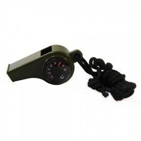 Unbranded, 3 In 1 Survival Whistle with Compass Thermometer AL046, Compas, AL046, EtronixCenter.com