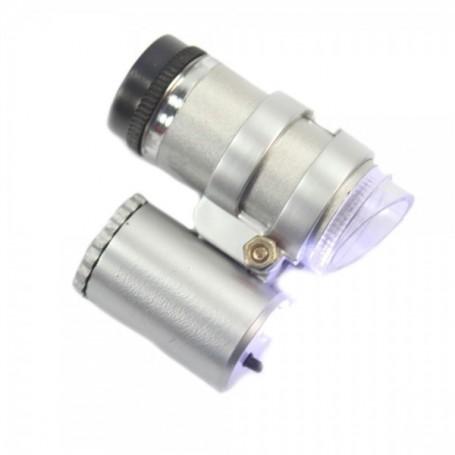 NedRo - 45x Mini Zak microscoop vergrootglas LED Juwelier loep - Loepen en Microscopen - AL019 www.NedRo.nl