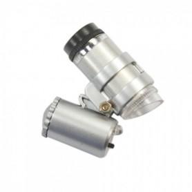 NedRo, 45x Mini Zak microscoop vergrootglas LED Juwelier loep, Loepen en Microscopen, AL019, EtronixCenter.com