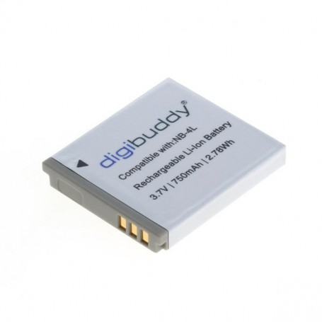 digibuddy, Battery for Canon NB-4L 750mAh, Canon photo-video batteries, ON2669