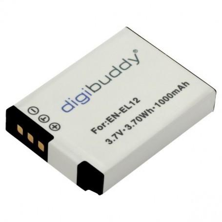 digibuddy - Battery for Nikon EN-EL12 1000mAh - Nikon photo-video batteries - ON2679