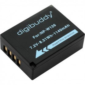 digibuddy - Battery for Fuji NP-W126 1140mAh ON2675 - Fujifilm photo-video batteries - ON2675 www.NedRo.us