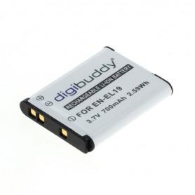 digibuddy - Accu voor Nikon EN-EL19 / Sony NP-BJ1 700mAh - Nikon foto-video batterijen - ON2682 www.NedRo.nl