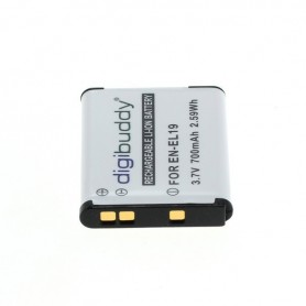 digibuddy - Battery for Nikon EN-EL19 / Sony NP-BJ1 700mAh - Nikon photo-video batteries - ON2682-C www.NedRo.us