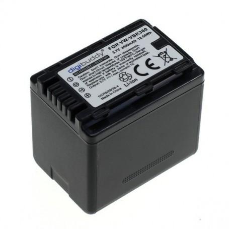 OTB, Battery for Panasonic VW-VBK360 1700mAh ON2695, Panasonic photo-video batteries, ON2695