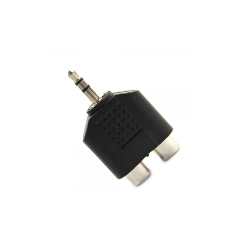 NedRo - 3.5mm Audio Jack Out Plug to 2 RCA Splitter Adapter AL010 - Audio adapterek - AL010 www.NedRo.hu
