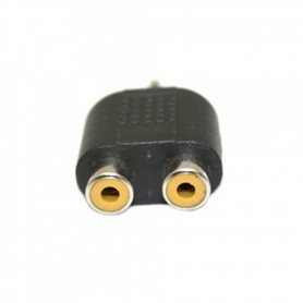 NedRo - 3.5mm Audio Jack Out Plug to 2 RCA Splitter Adapter AL010 - Audio adapters - AL010 www.NedRo.nl