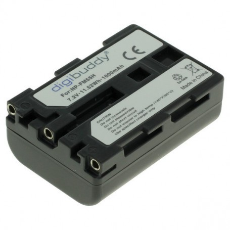 digibuddy - Battery for Sony NP-FM55H / NP-QM51 1600mAh ON2708 - Sony photo-video batteries - ON2708