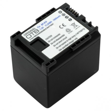 OTB - Battery for Canon BP-819 1600mAh - Canon photo-video batteries - ON2716