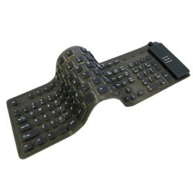 NedRo, Full-Size Flexible USB or PS2 keyboard, Various computer accessories, YPM003-CB, EtronixCenter.com